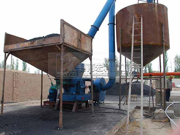甘肃敦煌活性石灰回转窑生产线安装现场