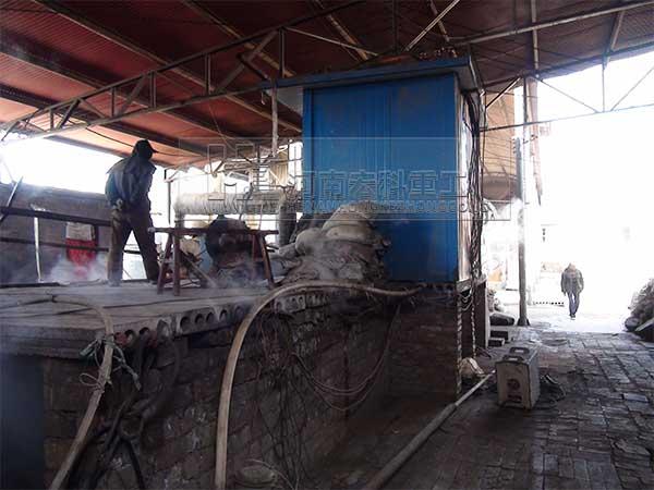渑池陶粒砂回转窑生产线生产现场