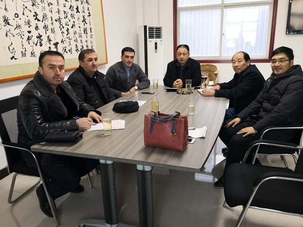 乌兹别克斯坦水泥生产线客户来访